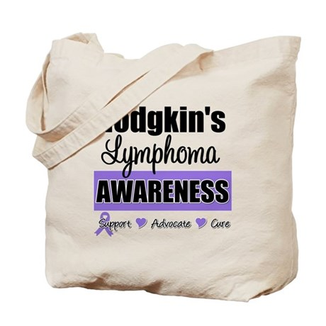Hodgkin's Lymphoma Awareness Tote Bag