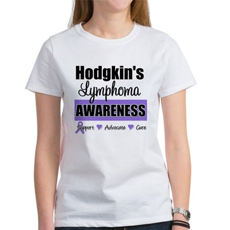 Hodgkin's Lymphoma Awareness Women's T-Shirt