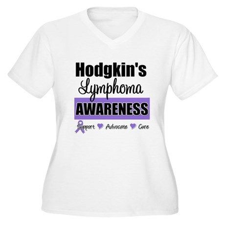 Hodgkin's Lymphoma Awareness Women's Plus Size V-N