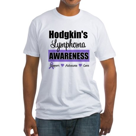Hodgkin's Lymphoma Awareness Fitted T-Shirt