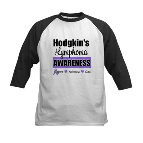 Hodgkin's Lymphoma Awareness Kids Baseball Jersey