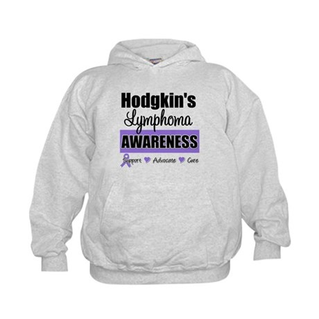 Hodgkin's Lymphoma Awareness Kids Hoodie