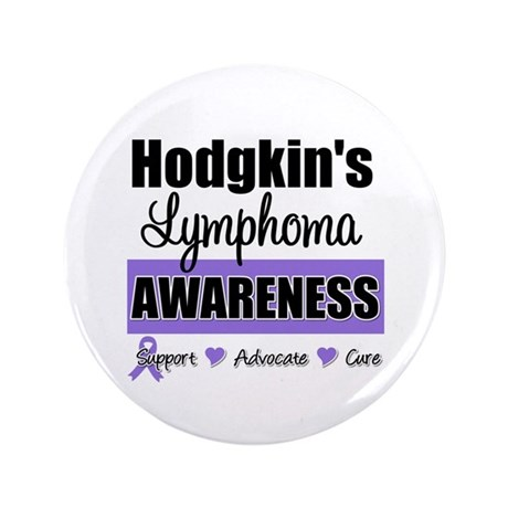 Hodgkin's Lymphoma Awareness 3.5&quot; Button (100 pack