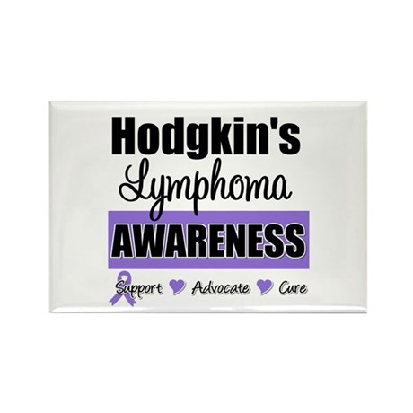 Hodgkin's Lymphoma Awareness Rectangle Magnet