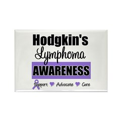 Hodgkin's Lymphoma Awareness Rectangle Magnet (100
