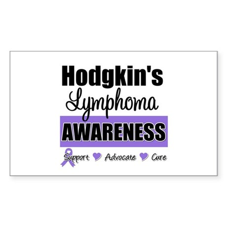 Hodgkin's Lymphoma Awareness Rectangle Sticker 10