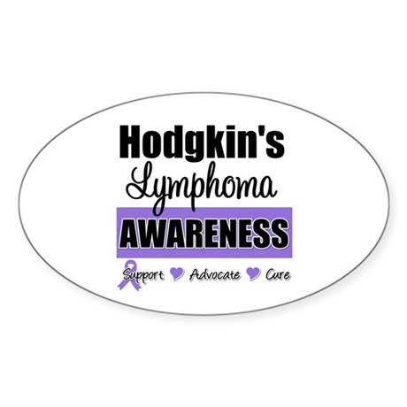Hodgkin's Lymphoma Awareness Oval Sticker (10 pk)