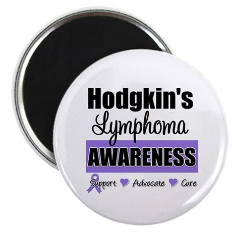 Hodgkin's Lymphoma Awareness 2.25&quot; Magnet (10 pack