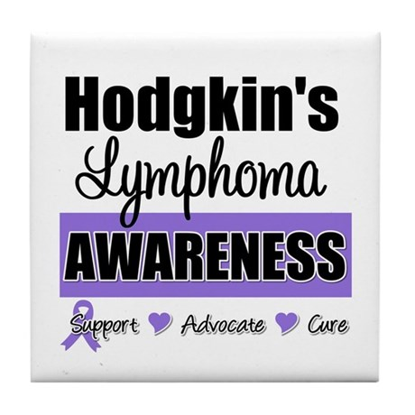 Hodgkin's Lymphoma Awareness Tile Coaster