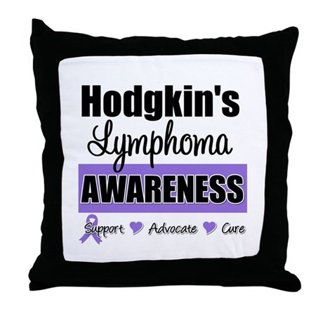 Hodgkin's Lymphoma Awareness Throw Pillow