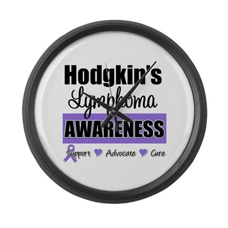 Hodgkin's Lymphoma Awareness Large Wall Clock