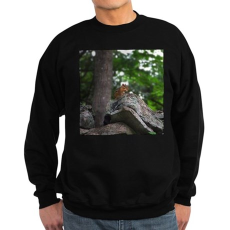 Chipmunk With Nut Sweatshirt (dark)