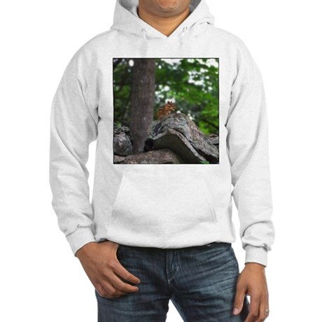 Chipmunk With Nut Hooded Sweatshirt