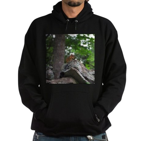 Chipmunk With Nut Hoodie (dark)