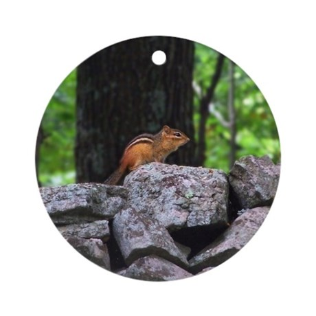 Cute Chipmunk Ornament (Round)