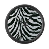 Zebra stripes Large Wall Clock