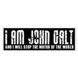 I Am John Galt Bumper Car Sticker
