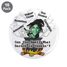 "Barack is Cookin' 3.5"" Button (10 pack)"