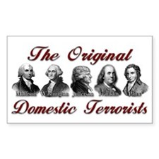 Original Domestic Terrorists Rectangle Sticker 10