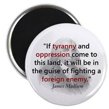 "James Madison 2.25"" Magnet (100 pack)"