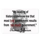 Thomas Jefferson Bad Governme Postcards (Package o