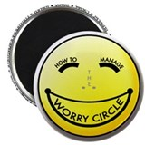 "The Worry Circle 2.25"" Magnet (10 pack)"