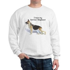 """I Love My German Shepherd"" Sweatshirt"