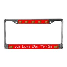 Red We Love Our Turtle License Plate Frames