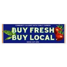 Buy Fresh Buy Local classic Bumper Sticker (10 pk)