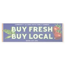 Buy Fresh Buy Local classic Bumper Bumper Sticker