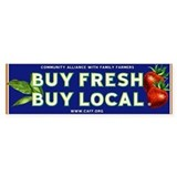 Buy Fresh Buy Local classic Bumper Car Sticker