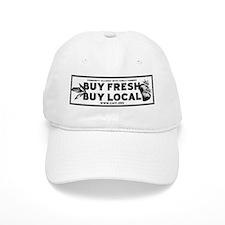 Buy Fresh Buy Local Black & W Baseball Cap
