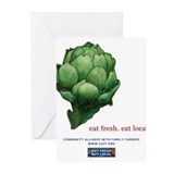 Eat Fresh Artichoke Greeting Cards (Pk of 10)