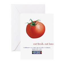 Eat Fresh Tomato Greeting Cards (Pk of 10)
