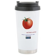 Eat Fresh Tomato Ceramic Travel Mug