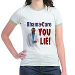 ObamaCare: YOU LIE Jr. Ringer T-Shirt