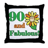 Fabulous 90th Birthday Throw Pillow