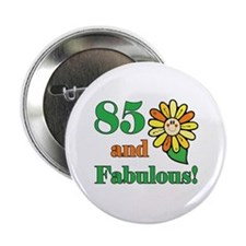 "Fabulous 85th Birthday 2.25"" Button (10 pack)"