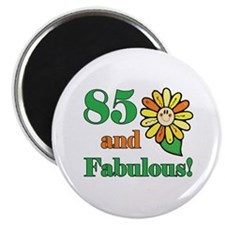 "Fabulous 85th Birthday 2.25"" Magnet (10 pack)"