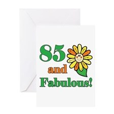 Fabulous 85th Birthday Greeting Card