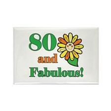 Fabulous 80th Birthday Rectangle Magnet