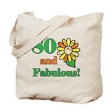 Fabulous 80th Birthday Tote Bag