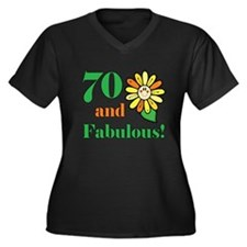 Fabulous 70th Birthday Women's Plus Size V-Neck Da