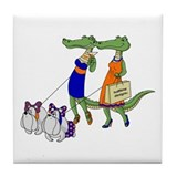 Gator Girls w/ Dawgs Tile Coaster