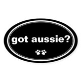 Got Aussie? Oval Decal