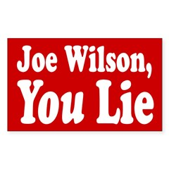 Joe Wilson, You Lie Bumper Sticker