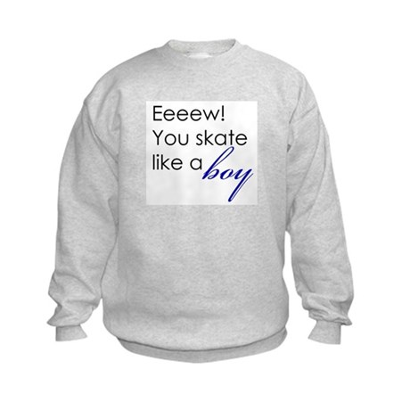 Skate Like a Boy Kids Sweatshirt