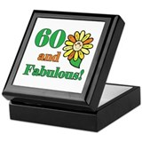 Fabulous 60th Birthday Keepsake Box