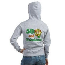 Fabulous 50th Birthday Zip Hoodie