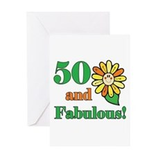 Fabulous 50th Birthday Greeting Card